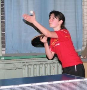 Евгения Васильева, настольный теннис