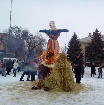 Проводы зимы в городе Красилов. Масленница