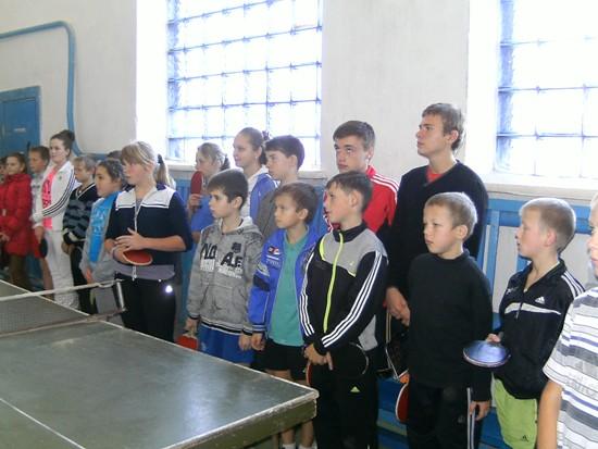 Михнов участники турнира по настольному теннису