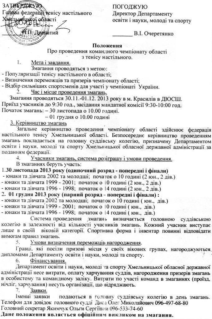 командный чемпионат области ноябрь 2013-2-2
