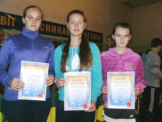 Красилов, призерки по настольному теннису 2001