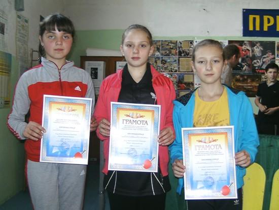 Красилов, призерки по настольному теннису