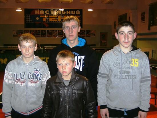 Команда по настольному теннису Чемировцев