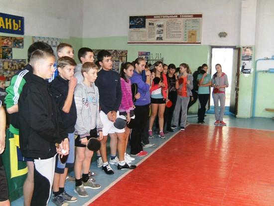 Красилов, участники турнира по настольному теннису