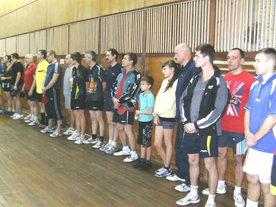Нетишин, участники турнира по настольному теннису