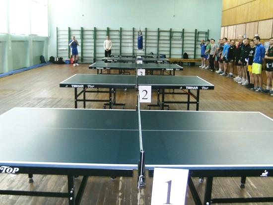 Нетишин, зал для проведения турнира по настольному теннису