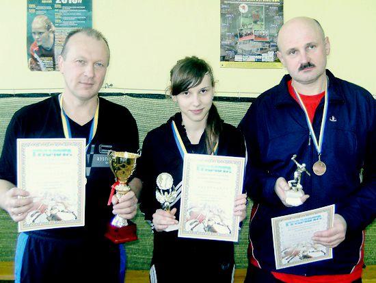 Славута, призеры по настольному теннису 2