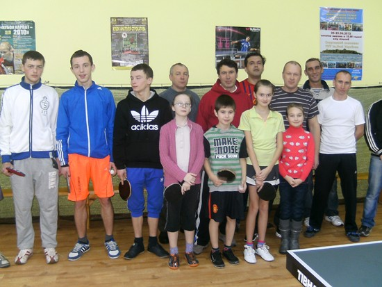 первая лига Славуты по настольному теннису
