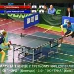 Клубный чемпионат Украины по настольному теннису: центральный матч Суперлиги 4