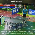 Клубный чемпионат Украины по настольному теннису: центральный матч Суперлиги 7