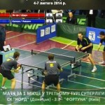 Клубный чемпионат Украины по настольному теннису: центральный матч Суперлиги 8