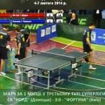 Клубный чемпионат Украины по настольному теннису: центральный матч Суперлиги 9