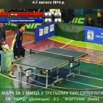 Клубный чемпионат Украины по настольному теннису: центральный матч Суперлиги 11