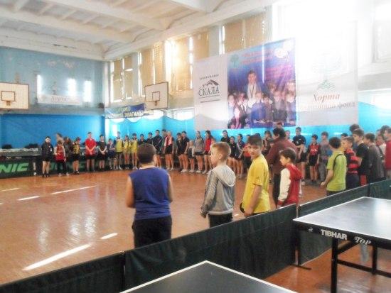 открытие турнира по настольному теннису