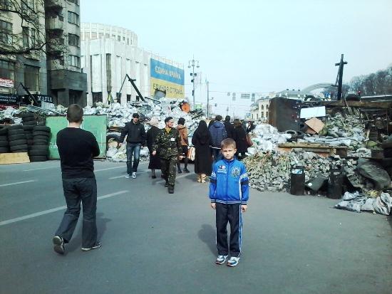 Киев, баррикады