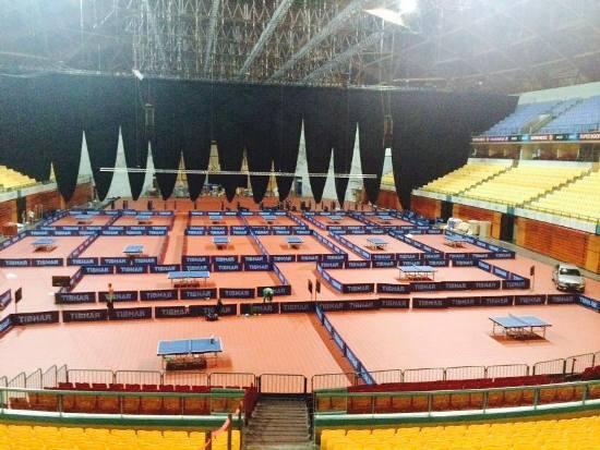 Зал чемпионата Европы по настольному теннису