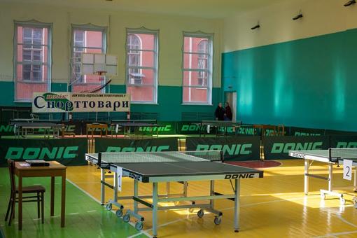 Зал для настольного тенниса в КПНУ имени И. Огиенко