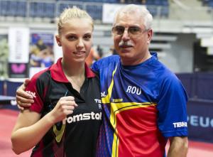 Адина Диакону и ее тренер