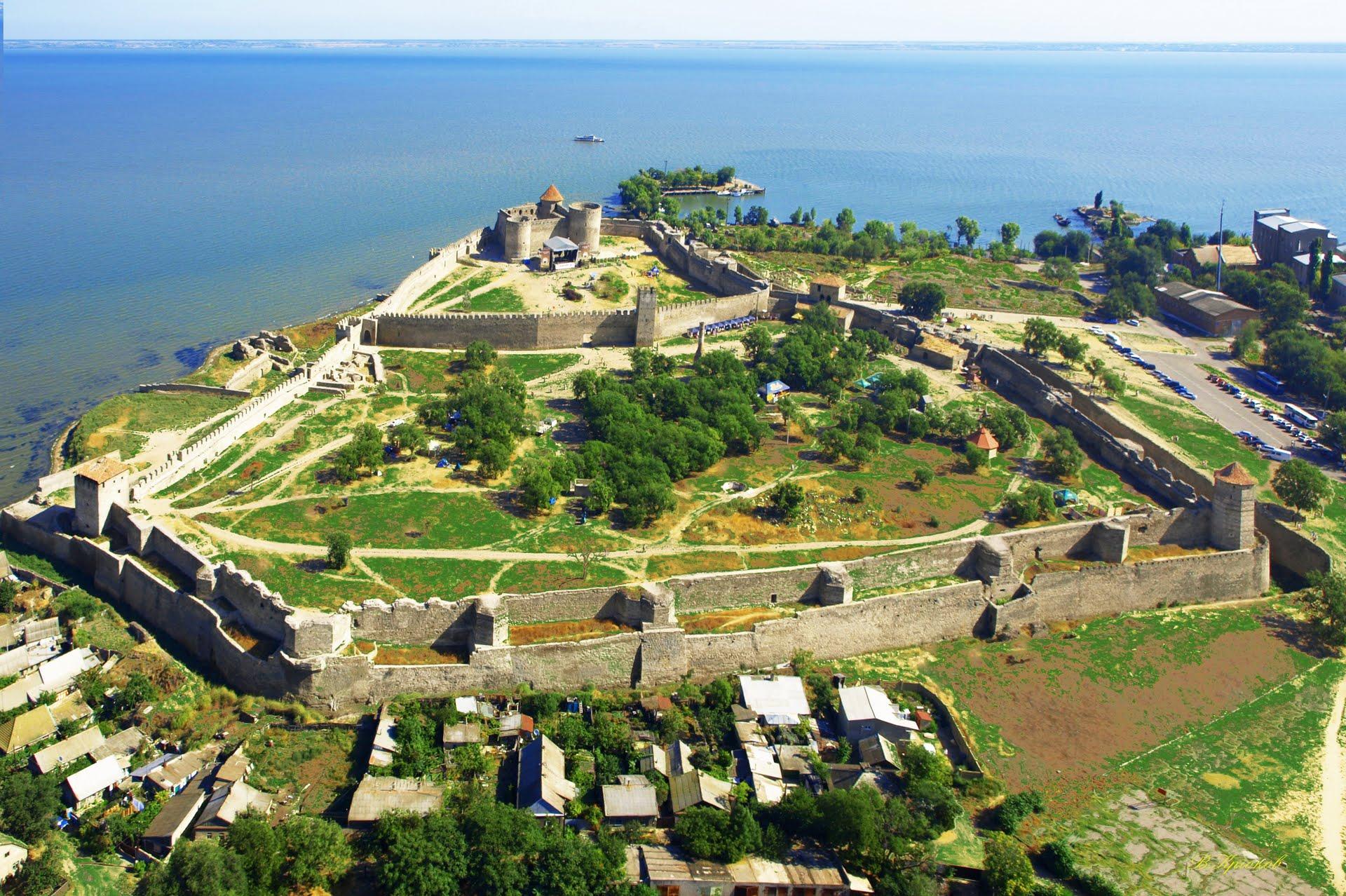 Общий вид крепости с выходом на Днестровский лиман