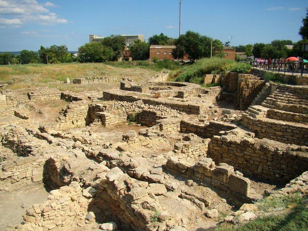 Остатки древнегреческого города Тира. Археологические изыскания. Виден только фундамент домов