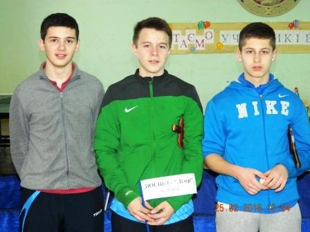 команда Лидер: Александр Олеськевич, Дмитрий Яремчук, Александр Ткаченко