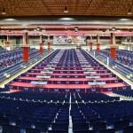 общий вид зала до соревнований