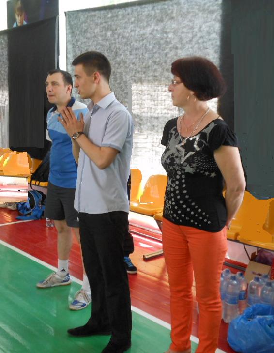 Организаторы турнира - жена и сын Николая Будникова
