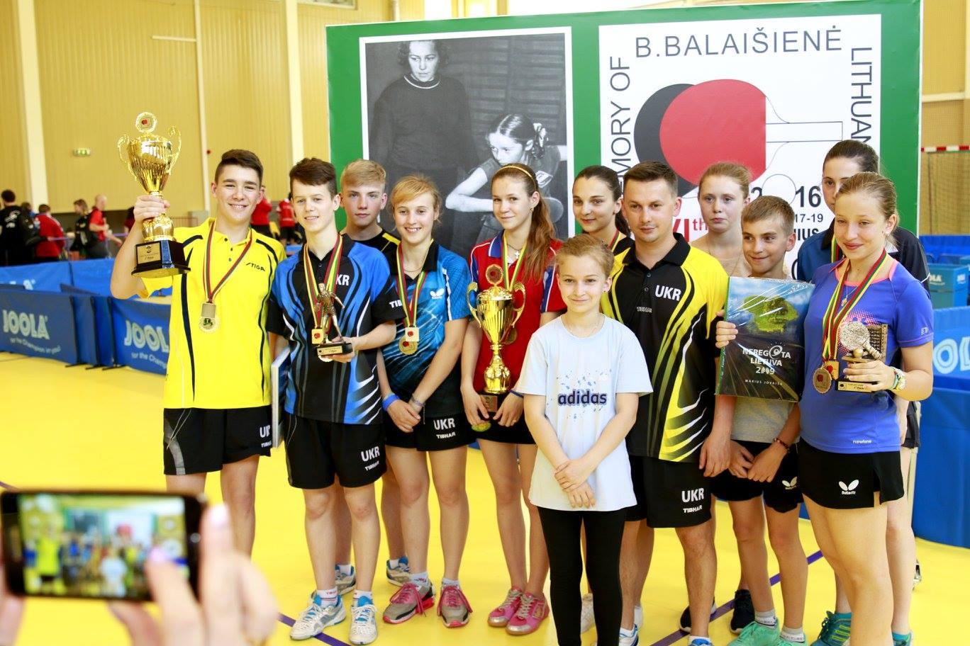 Команда Украины в Литве с завоеванными наградами