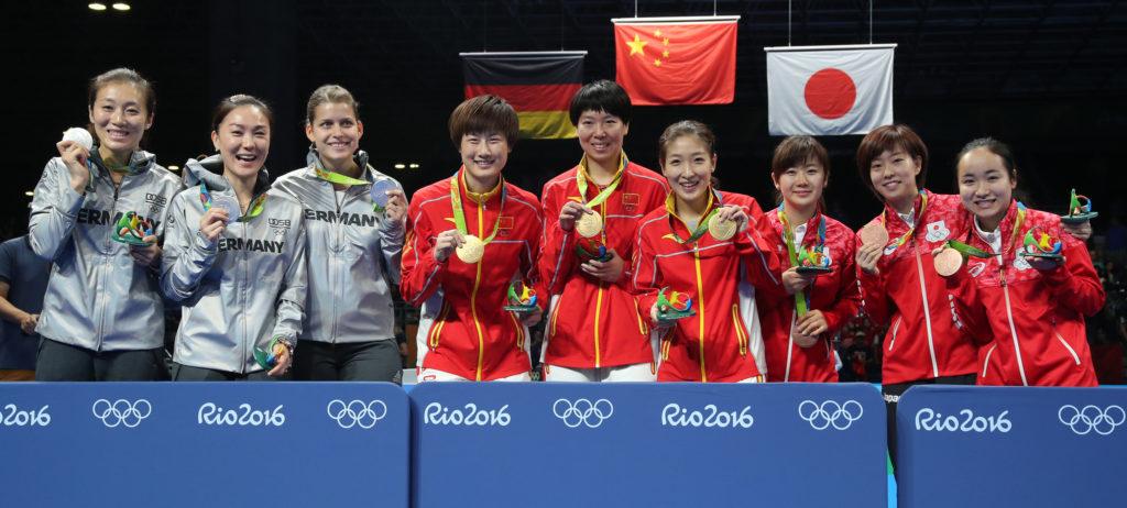 Победители и призеры Олимпийских игр по настольному теннису!