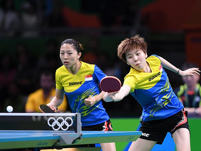 Команда Сингапура. Возможно, эти девушки - будущие призерки Олимпиады!