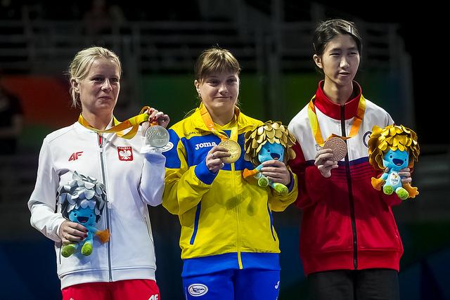 Призеры Паралимпиады-2016. В центре - Наталья Космина