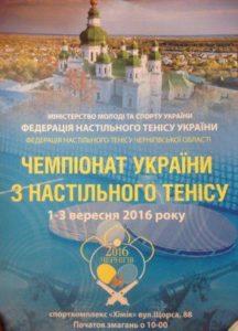 Афиша чемпионата Украины