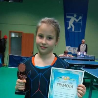 Вероника Матюнина - будущая звезда настольного тенниса из Северодонецка