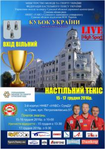 Афиша Кубка Украины